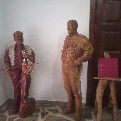 Tradiional Greek men, full size carvings