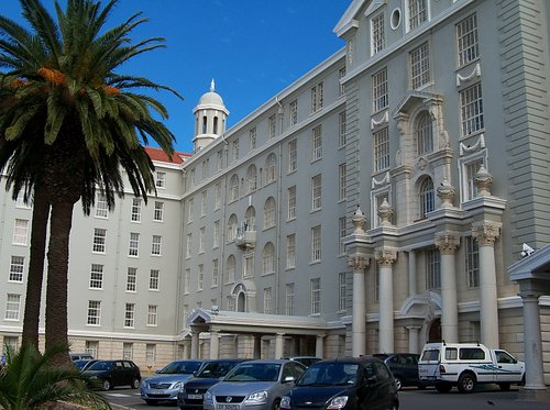 The attractive Groote Schuur hospital & museum's entrance