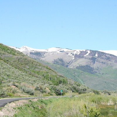 View of Park City from the rail trail east of town