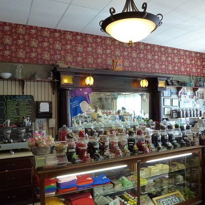 Numerous different candy available