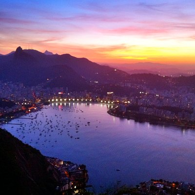 Rio sunset from Sugar Loaf with Daniel