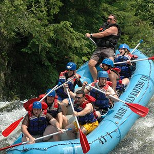 Owner, Dave Neddeau, guides a Kennebec trip