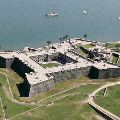 The Castillo de San Marcos Built Between 1672-95. A National Monument.