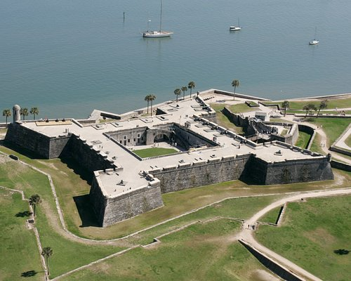 The Castillo de San Marcos Built Between 1672-95. A National Monument.