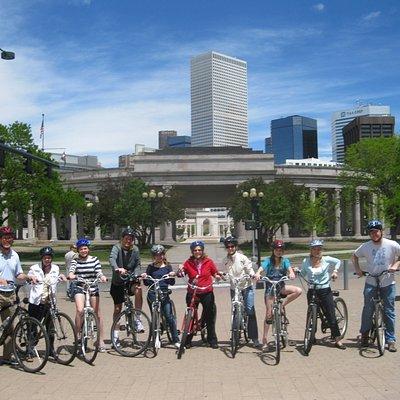group tour at Civic Center Park
