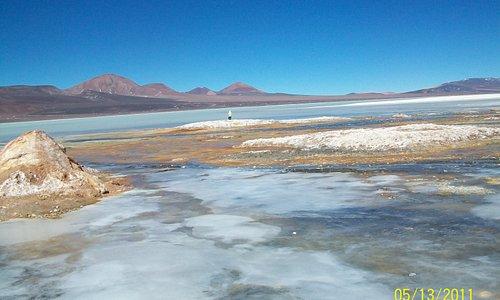 La laguna semicongelada