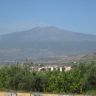 Photo op on the road to Mt. Etna