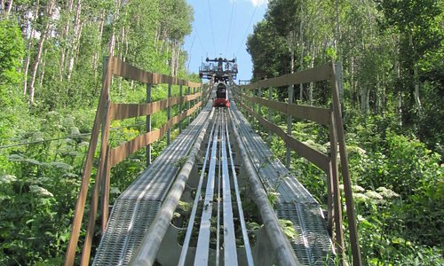 Just got on the coaster, heading up the hill