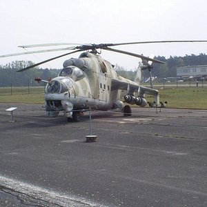 East German soviet attack chopper