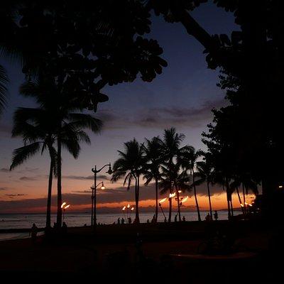 Abendstimmung am Strand von Waikiki