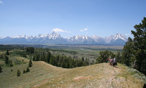 View of the Teton Range during our Ride