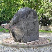 Erratic block in front of the museum.