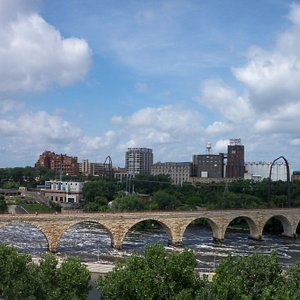 The Stone Arch Bridge from the Guthrie.
