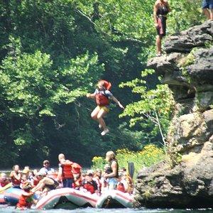 Jump rock on the Watuga
