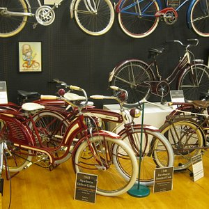 Just some of the bikes on display upstairs