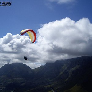 Cape Town Tandem Paragliding - Table Mountain in the background