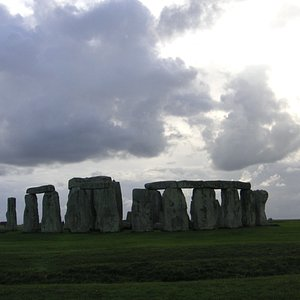 """The view of Stonehenge walking up the """"Avenue"""""""