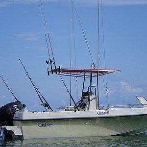 The 20' center console Costa boat.