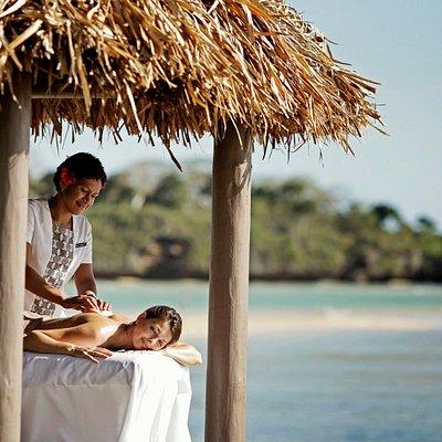 Cabana massage by the beach