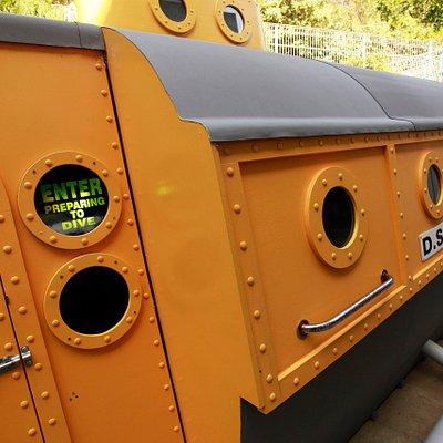 Take a virtual deep sea dive in a yellow submarine at the Dunedin Aquarium