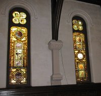 stained glass windows by Louis Comfort Tiffany