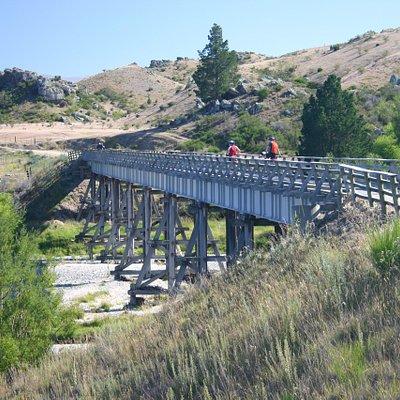 Cycling on the Otago Rail Trail