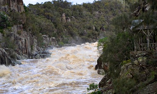 Cataract Gorge,Flood