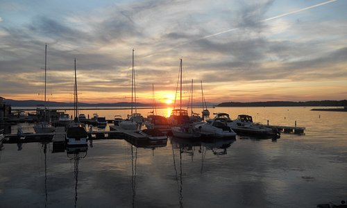 Enjoy a beautiful sunset over Lake Champlain.