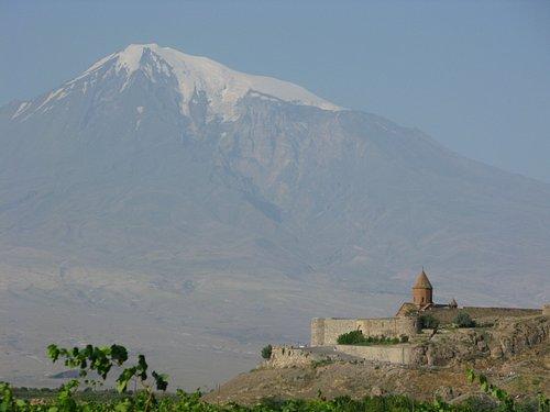 The Mount Ararat from Khor Virap
