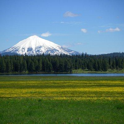 Mt. McLaughlin and the edge of Howard Prairie Lake