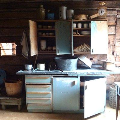 Küche in Flößer Schutzhütte um 1920