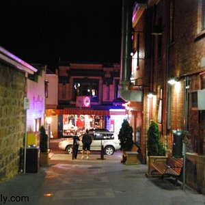 An alleyway opening on to the strip