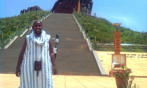 The 'Queen' of SenegalStyle in Front of the WORLD'S LARGEST STATUE!
