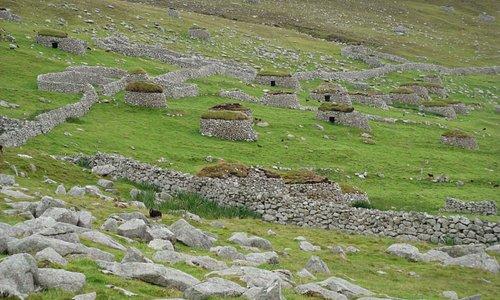 The hillside at Village Bay, on Hirta