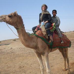 Riding camel in Jaisalmer