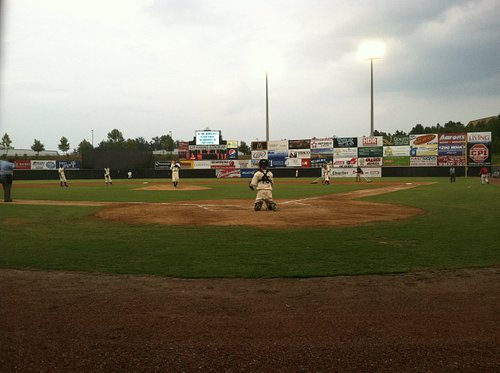 View from behind home plate