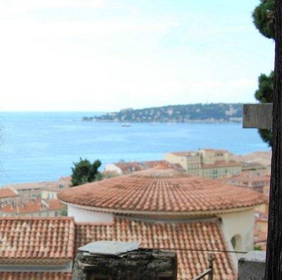 Cimitero del Vecchio Castello di Mentone: Vista.