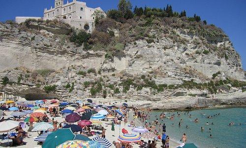 Tropea Beach looking at Santa Maria dell'Isola