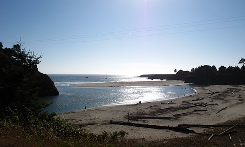Closer view of Big River beach from Hwy 1