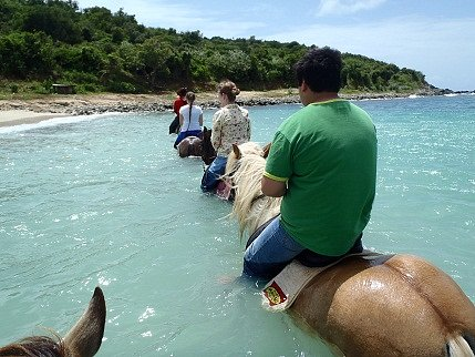 riding in the ocean! the best part!