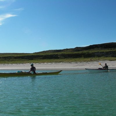 A blue sky day in the Summer Isles