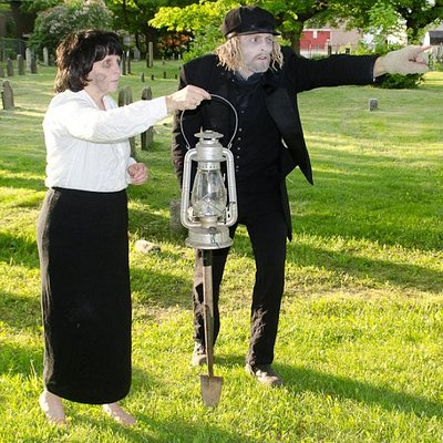 Jerome and Mrs. Bennidict in the Old Burial Grounds