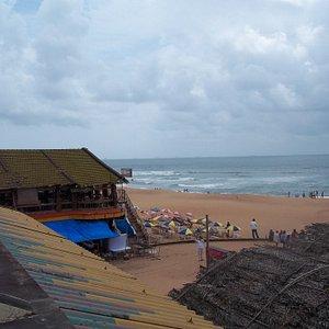 beach and beachside restaurant