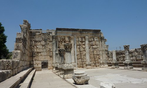 Capharnaum the town of Jesus - the Synagogue