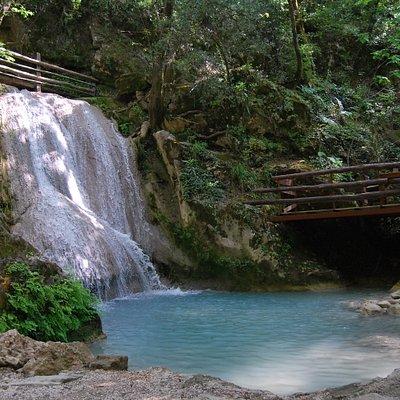 Einer der Wasserfälle