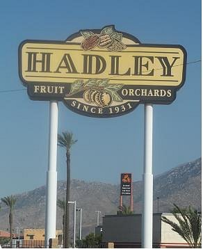 Hadley highway sign