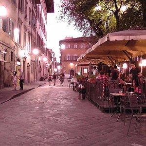 Piazza Santo Spirito am Abend _ 2