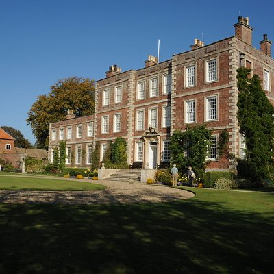 Gunby Hall's impressive front entrance