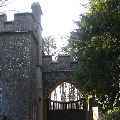 The gates and gatelodge, from inside the grounds