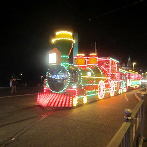 one of the special trams during the illuminations
